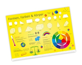 Children learning poster shapes / colors & body A3 / A2 / A1 * nikima * in 3 different sizes posters