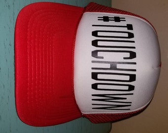 Touchdown Football Trucker Hat Snapback Hat Custom Trucker Hat Gameday Trucker Hat Sports Mom Football Mom Hat Funny Trucker Hat