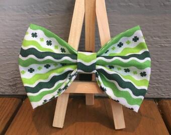 LAST 3!! St. Patricks Day bow tie, dog bow tie