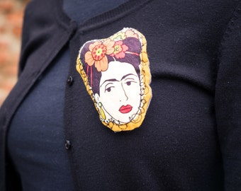 Frida kahlo frida fabric brooch pin brooch pins