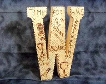 "Wooden letter ""W"""