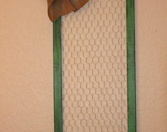 Rustic Chicken Wire Frame