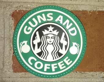 Guns and Coffee (PVC molded rubber) Morale/Tactical Patch