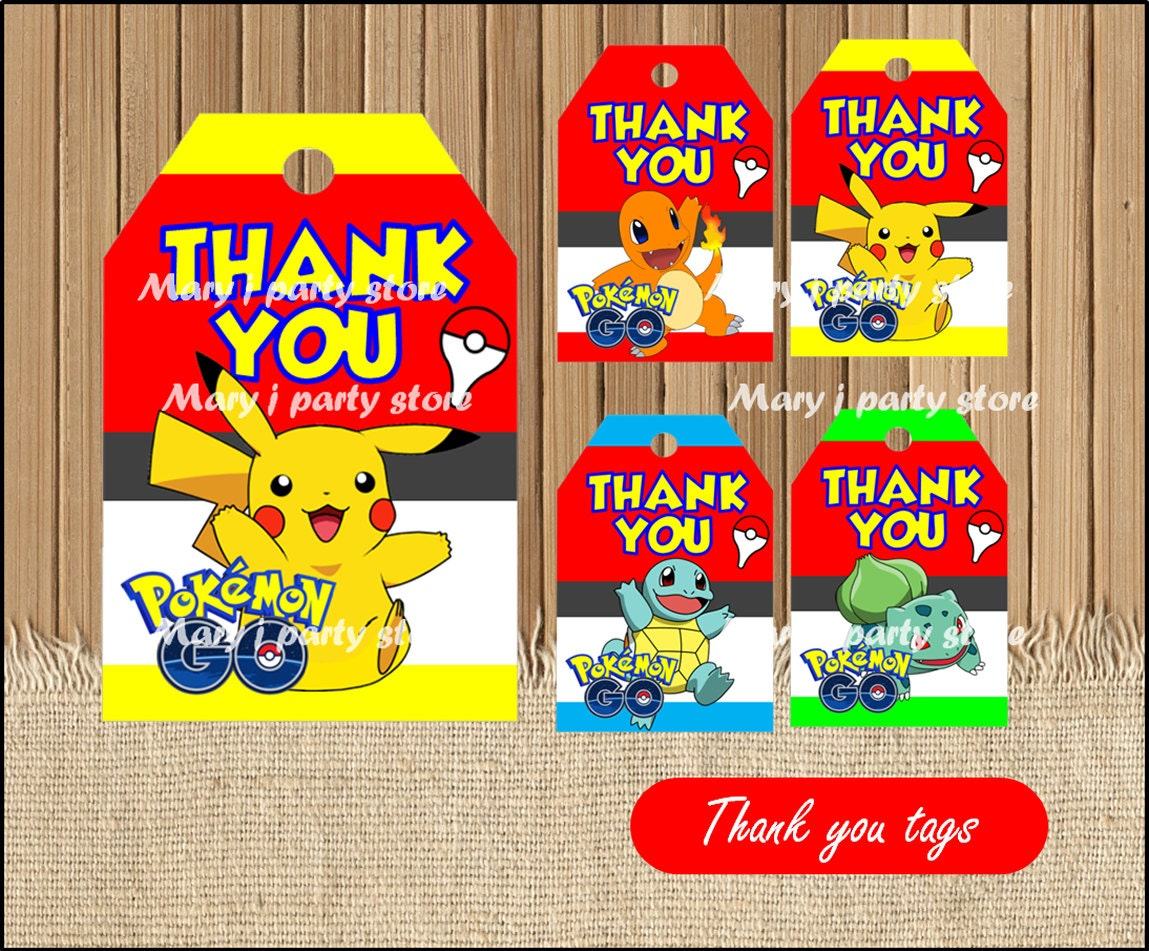 pokemon thank you pokemon tags pokemon thank you tags instant printable pokemon party thank you tags