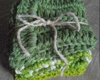 Set of 3 cotton washcloths