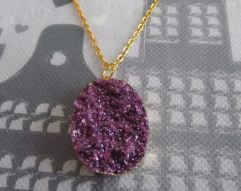 Necklace with Druzy Pendant