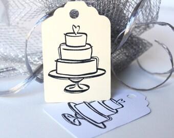 Cake Gift Tags, Shower Gift Tag, Cake Gift Tags, Hang Tags, Formal Hang Tag, Anniversary Gift Tags, Birthday Gift Tag