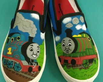 Custom Hand Painted Thomas and Friends Shoes
