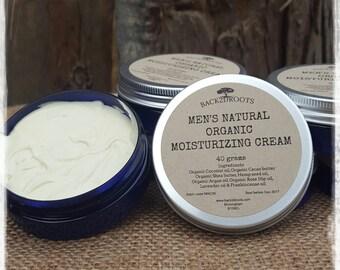 Men's Natural Organic Moisturizing Cream  40ml