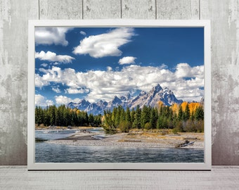 Grand Teton Print, Instant Download, Travel Photography, Home Decor, Wall Art, Travel Prints, Wyoming Photography, Nature Landscapes