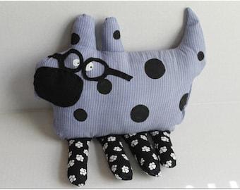 Polka Dot Dog with Glasses *SOLD*
