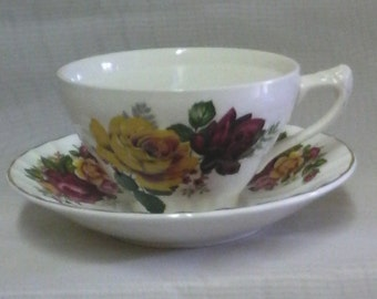 Bone china tea cup and saucer
