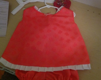 Linen and Lace Crossover Dress with Bloomers