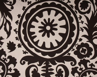 4 yards Premier Prints Suzani Natural-Chocolate