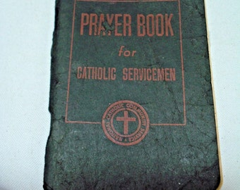 Vintage  WWII Prayer Book for Catholic Servicement Pocket Size Janurary 1, 1943