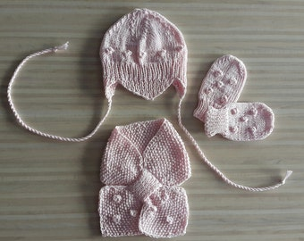 Baby knitted winter set
