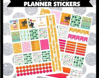 Mele Kalikimaka Hawiian Christmas Printable Planner Stickers ECLP Life Planner