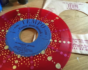 Alabammy Bound 45s RED record. Tempo custom made records