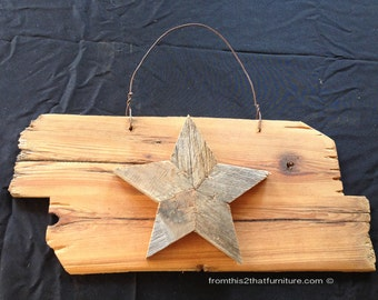 Wooden Star Plaques