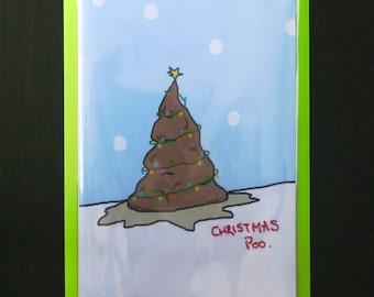 Poo Card: 'Christmas Poo' Christmas Card