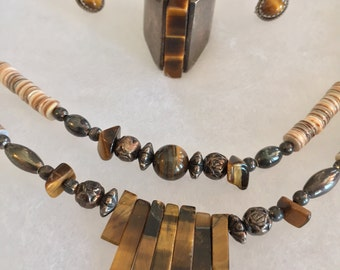 Tiger Eye Jewelry Set