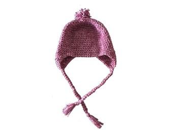 Adult Ear Flap Hat- crochet
