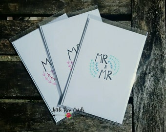 Mr and Mr Card - Wedding, Anniversary, Engagement