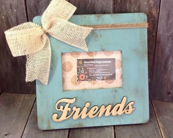 Friends Distressed Picture Frame 4x6