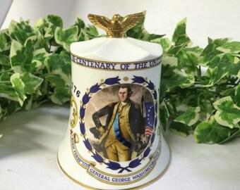 Vintage Aynsley Bone China Commemorative Bell Bi-Centenary Of The United States