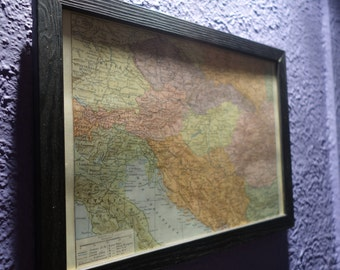 Old map of the Balkans (1924) - original vintage of the political Balkans dating back to 1924 map (21cm x 29, 7cm)-sold box