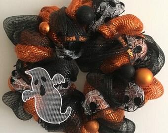 """Halloween """"Boo"""" Wreath"""