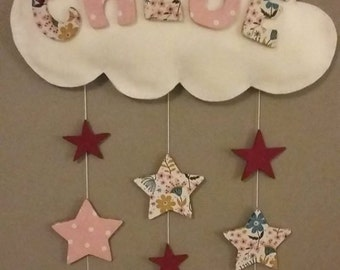 Wall mobile name baby room decoration