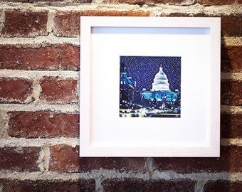 Framed Art Print of U.S. Capitol in Washington, DC