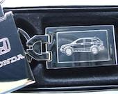 Honda CRV Engraved Keyring Chrome with Engraved Stainless Steel Insert