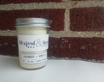 Lavender + Vanilla Wood-Wick Natural Soy Candle