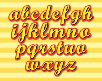 Curious George - Alphabet Clipart - 222 png files 300 dpi - Curious George Party - Curious George Letters