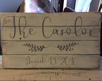 It's a Nice Day for Whitewash Wedding, Wood Sign