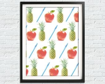 Pen Pineapple Apple Pen, Pineapple Print, Fruit Prints, Funny Print, Funny Poster, PPAP, Kitchen Decor, Home Wall Art, Art Print, DIY Print