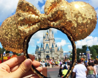 Gold Sequin Mouse Ears