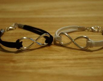 Couples infinity bracelet etsy fr - Bracelet couple ancre ...