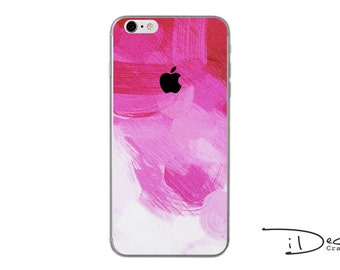 Pink Paint Decal Sticker Skin for iPhone SE, iPhone 6/6s, iPhone 6plus, iPhone 7 and iPhone 7plus