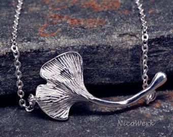 Silver bracelet Ginko leaf bracelet Silver 925 ladies jewelry bracelet gift SAB118