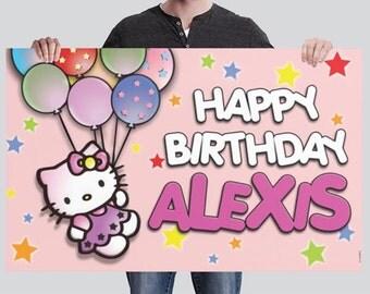 BANNER - Hello Kitty Birthday Banner
