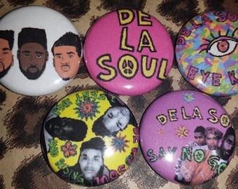 5 Pin Button set De La Soul 1 inch Buttons