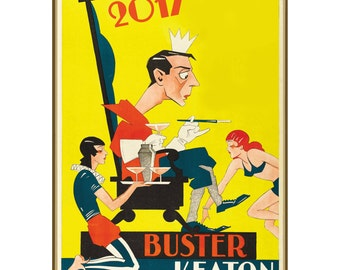 """Wall Calendar 2017 (12 pages 8""""x11""""/A4) Buster Keaton Silent Film Vintage Poster M504"""