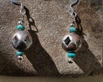 Vintage Mexican bead earrings