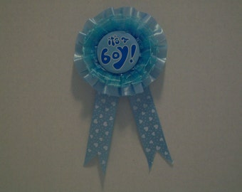 It's a Boy/ It's a Girl Baby Shower Mother to be Brooch - Please select the correct color.