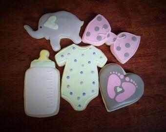 One Dozen Welcome Baby Cookies