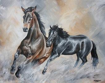 Wild Horses Print A3