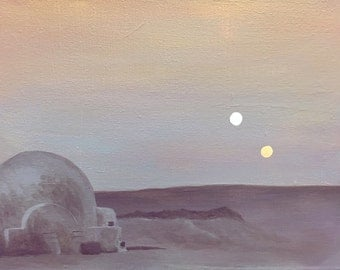 Tatooine Painting Print